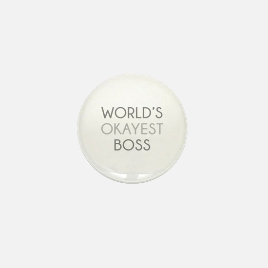 World's Okayest Boss Mini Button