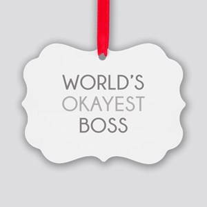 World's Okayest Boss Picture Ornament