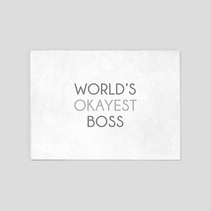 World's Okayest Boss 5'x7'Area Rug