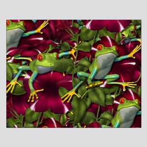 RED PETUNIA FROGS Small Poster