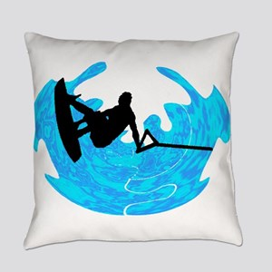 WAKEBOARD TIME Everyday Pillow