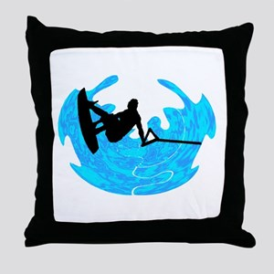 WAKEBOARD TIME Throw Pillow