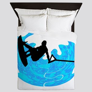 WAKEBOARD TIME Queen Duvet