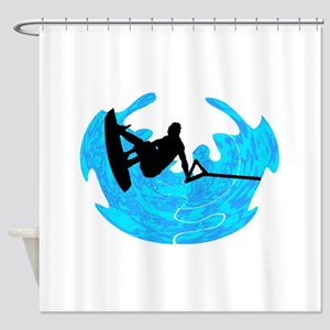 WAKEBOARD TIME Shower Curtain