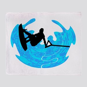 WAKEBOARD TIME Throw Blanket