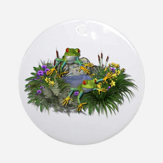 POND FROGS Ornament (Round)