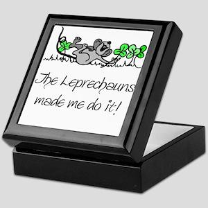 The Leprechauns Made Me Do It Keepsake Box