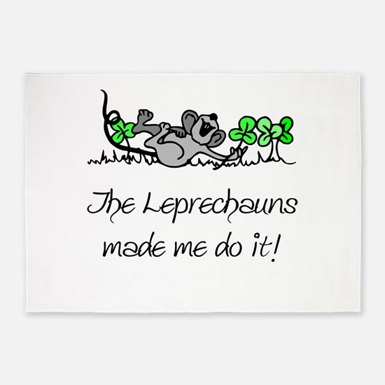 The Leprechauns Made Me Do It 5'x7'Area Rug