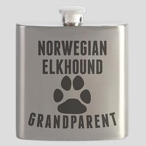 Norwegian Elkhound Grandparent Flask