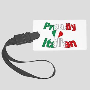 Proudly Italian Large Luggage Tag