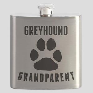 Greyhound Grandparent Flask