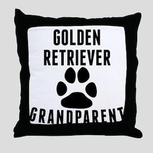 Golden Retriever Grandparent Throw Pillow