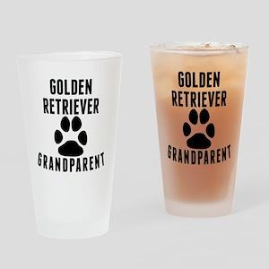 Golden Retriever Grandparent Drinking Glass