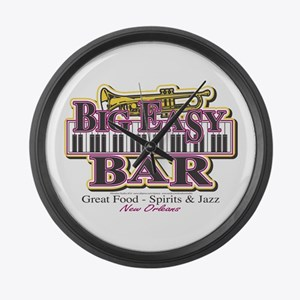 Big Easy/New Orleans/Mardi Gras Large Wall Clock