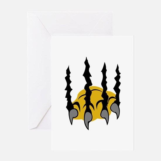 TIGER CLAWS Greeting Cards