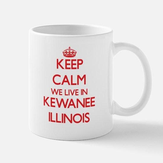 Keep calm we live in Kewanee Illinois Mugs