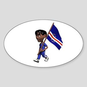 Cape Verde Boy Oval Sticker