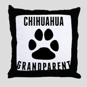 Chihuahua Grandparent Throw Pillow