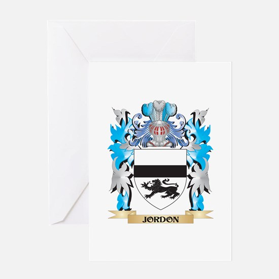 Jordon Coat of Arms - Family Crest Greeting Cards