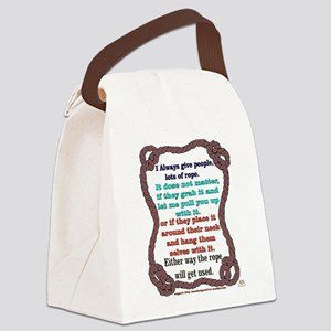 i always -- brown Canvas Lunch Bag