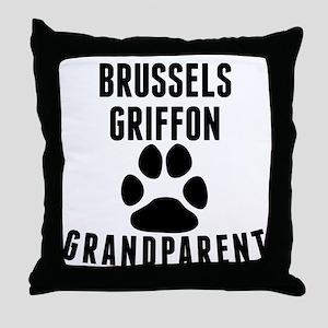 Brussels Griffon Grandparent Throw Pillow