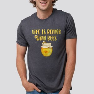 Life's Better With Bees 2 Mens Tri-blend T-Shirt