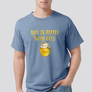 Life's Better With Bees Mens Comfort Colors Shirt