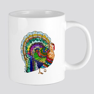 Patchwork Thanksgiving Turkey Mugs