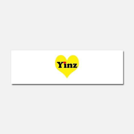 Yinz, black and gold heart, Pittsburgh slang, Car