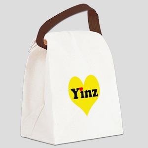 Yinz, black and gold heart, Pittsburgh slang, Canv