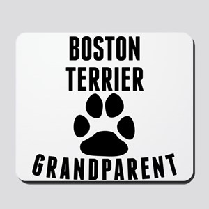 Boston Terrier Grandparent Mousepad