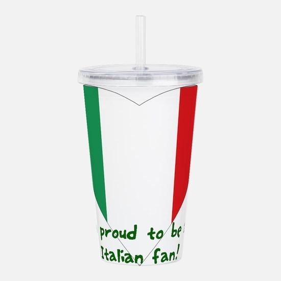 Italy fan flag Acrylic Double-wall Tumbler