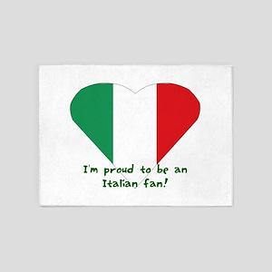 Italy fan flag 5'x7'Area Rug