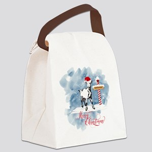 GOAT North Pole Merry Christmas Canvas Lunch Bag