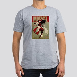 Elektra Marvel Vintage Men's Fitted T-Shirt (dark)