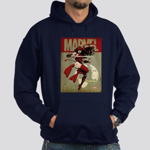Elektra Marvel Vintage Hoodie (dark)