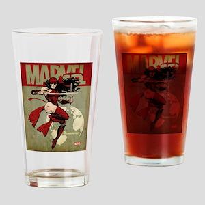 Elektra Marvel Vintage Drinking Glass