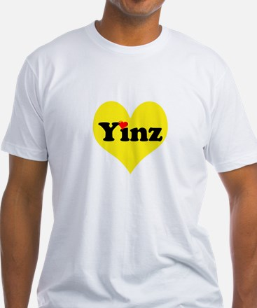 Yinz, black and gold heart, Pittsburgh slang, T-Sh
