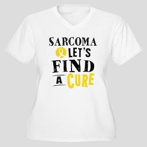 Sarcoma Cure Women's Plus Size V-Neck T-Shirt