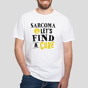 Sarcoma Cure White T-Shirt