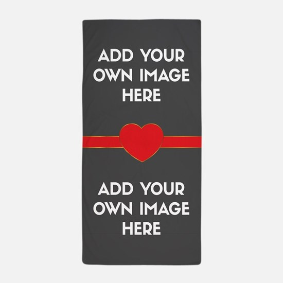 Lovers - Add Your Own Images Beach Towel