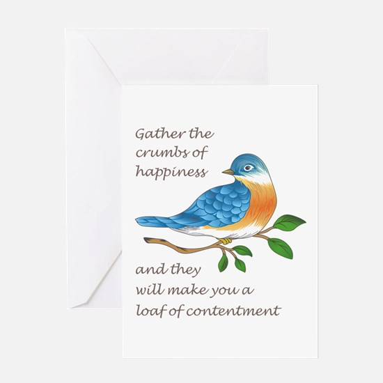 CRUMBS OF HAPPINESS Greeting Cards