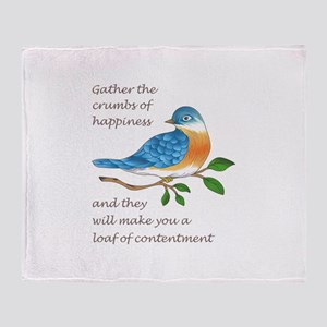 CRUMBS OF HAPPINESS Throw Blanket