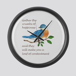 CRUMBS OF HAPPINESS Large Wall Clock
