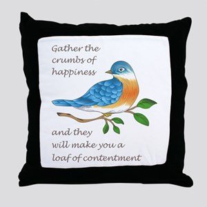 CRUMBS OF HAPPINESS Throw Pillow