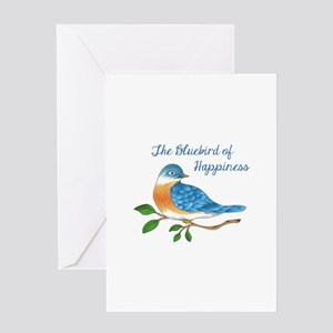 BLUEBIRD OF HAPPINESS Greeting Cards