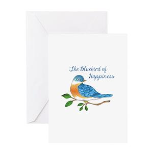 Blue jay bird greeting cards cafepress m4hsunfo