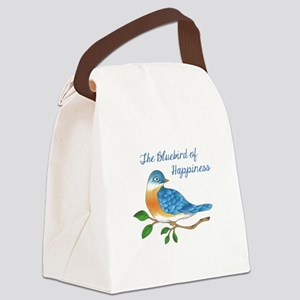 BLUEBIRD OF HAPPINESS Canvas Lunch Bag