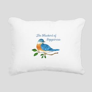 BLUEBIRD OF HAPPINESS Rectangular Canvas Pillow