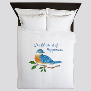 BLUEBIRD OF HAPPINESS Queen Duvet